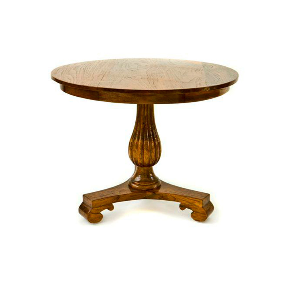 Colonial Teak Side Table 650dia x 510h - RRP $1080.00