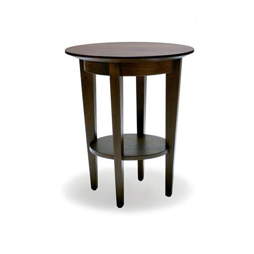 Tall Saucer Table Solid Mahongany 550dia x 800h - RRP $940.00