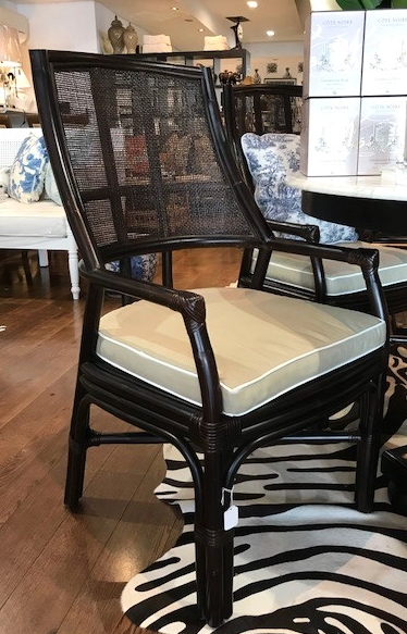Plantation Dining Chair Ebony - SET OF 4 - 520w x 500d x 1000h - RRP $2000.00 s/4