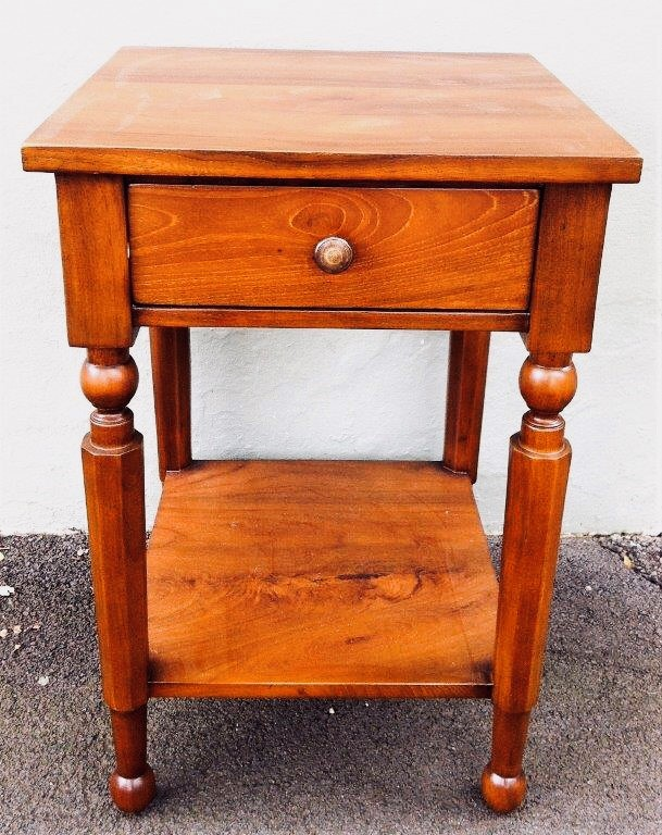 Colonial Hamptoins Bedside Table Reclaimed Teak - 400w x 400d x 600h mm - RRP $980.00