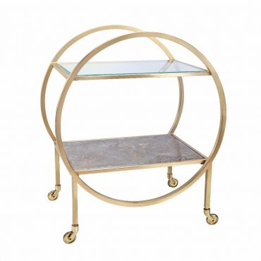 Empredor Brass Cocktail Cart 710w x 470d x 830h - RRP $1360.00