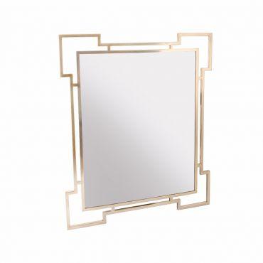 Geometric Brass Mirror 1030h x 20d x 1230h - RRP $840.00
