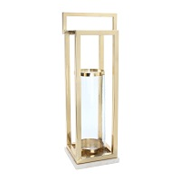 Classic Brass Hurricane with Marble Base 230w x 300d x 800h - RRP $440.00