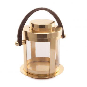 Wolfie Brass Lantern 250dia x 460h - RRP $290.00