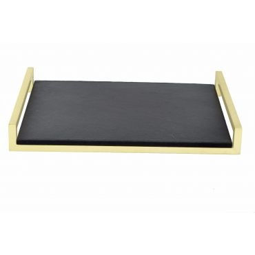 Luxe Noir Leather/Brass Tray 600w x 450d x 70h - RRP $390.00