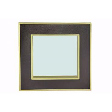 Luxe Noir Black/Brass Mirror 1000w x 1000h x 70d - RRP $950.00 SALE