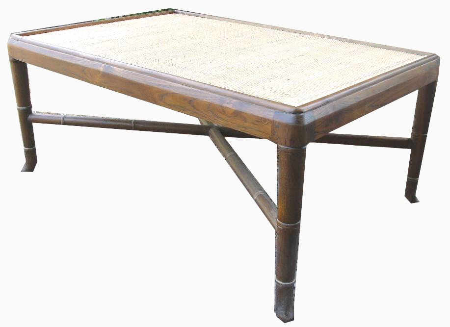Bamboo Coffee Table (Reclaimed Teak) 1040w x 680d x 450h - RRP $1800.00