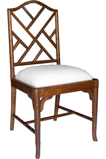 Bamboo Wooden Dining Chair (Black, White, Natural) Reclaimed Mahogany - RRP $780.00