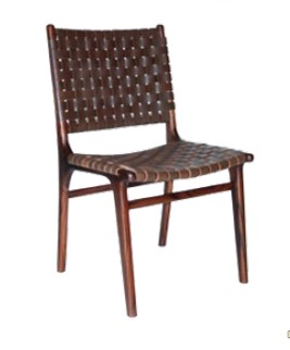 Roxy Dining Chair - choc/white/black RRP $940.00