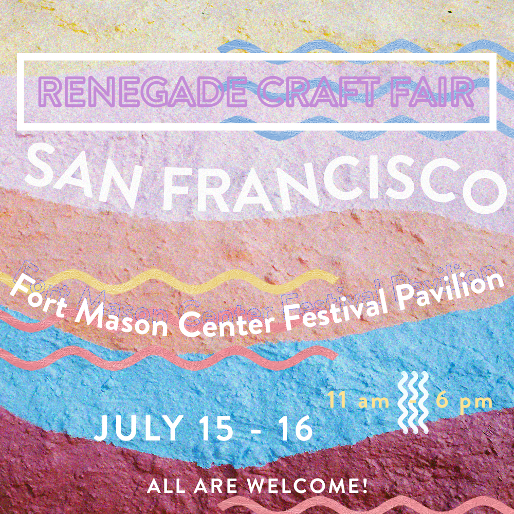 If you are in the Bay, come visit RenegadeCraftFairSf! Will have some new one off colorways and some new products. Look for the Patchwork Tie dye backdrop. ^_*