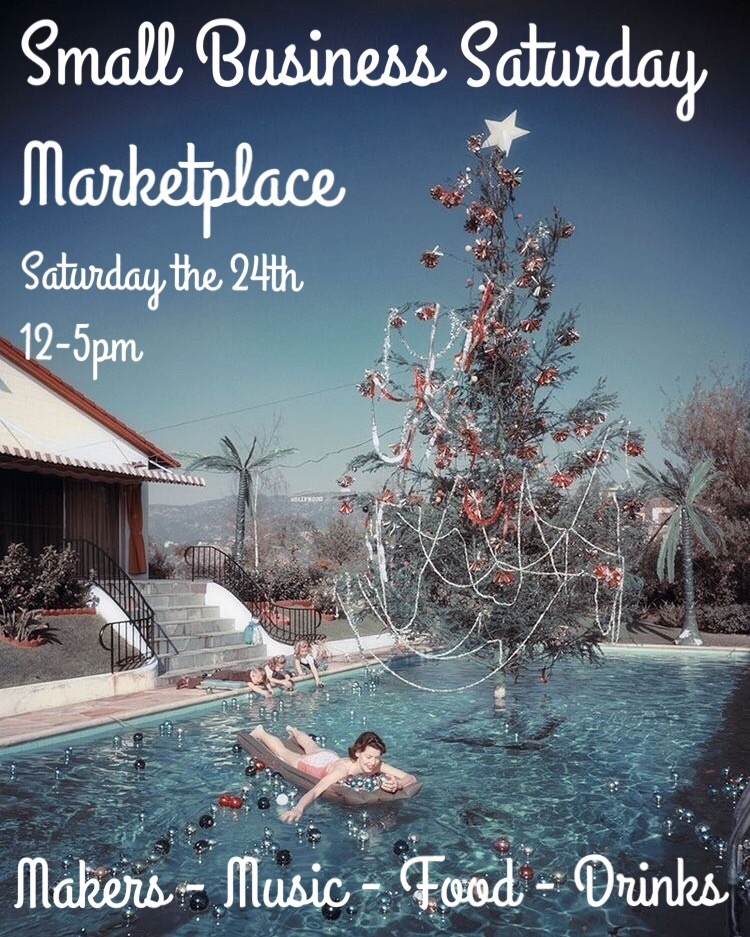 Will be hanging out at  Neighbor  tomorrow. Come by for some local holiday goodies.