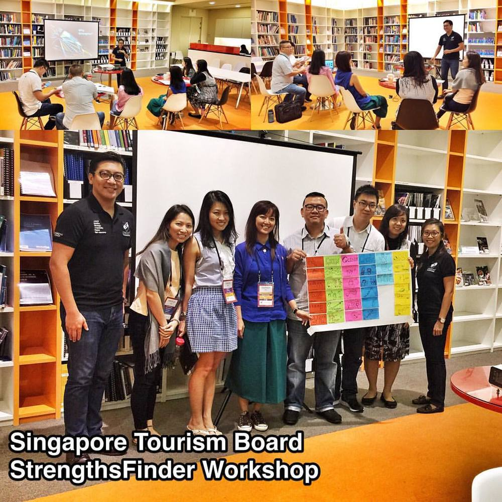 Did the very last #StrengthsFinder #workshop for #Singapore Tourism Board's division for the year 2015    Was a great time of team-bonding and getting to understand each other on a deeper level. I shared about leadership and the importance of knowing your own strengths and the strengths of your team. Effective leaders know how to leverage and maximizer the people's unique talents. They draw out what is already inside rather than try to put it something that is not    Their director, Poh Chi Chuan, was a very fun person to be with! Being an Activator, he enjoys the frontal-all-out-assault and the excitement of the 'CHARGE!'. Interesting thing is that his team was made up of many having the StrengthsFinder talents of Deliberative, Achiever, Responsibility (Executing Domain). All these strengths really complement his Activator and covers the blind spots needed in forming a great all rounded team     And when it comes to facilitating, I always love the way Charissa Ee @orangefridge is able to use her Connectedness to give the participants the big picture. Her Relator gives an awesome genuineness that is unique to her. The participants don't just see a StrengthsFinder Coach, but rather they see a sincere friend. It is my blessing to have the opportunity to work with her in impacting the generations     For the Singapore Tourism Board team, by understanding the StrengthsFinder talents & philosophy, the team was able to be more aware of the different 'lens' they all wear and how they unintentionally might impose them on others    But when they start look through other member's lens and intentionally leverage their strengths, the more engaged the team would be! Overall it was a great StrengthsFinder team-building session and feedback was that they were all impacted profoundly and positively!     Looking forward in bringing Singapore Tourism Board members into a place where their strengths can be an unlimited source of motivation and therefore productivity    #StrengthsQuest #StrengthsSchool #StrengthsFinderSG #Asia #HumanResource #Gallup #SelfImprovement #TrainingAndDevelopment #ProfessionalDevelopment #StrengthsFinderCoach    Jason Ho • SouthEast Asia's 1st StrengthsFinder Coach