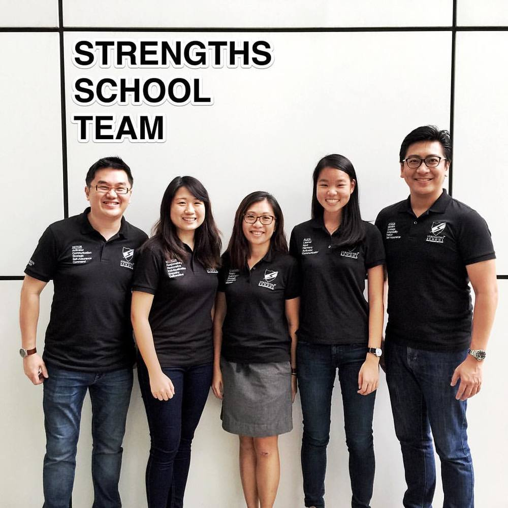#StrengthsFinder Strengths School team at #Singapore's iconic National Library facade     After a full day of workshop with leaders and teachers, we managed to take a group shot over at one of the more popular Instagram background locations in Singapore     The iconic white squares with black lines suit our unique black and white polo tees     This looking more like team-blending than team-bonding    And if you are interested in joining our team to impact corporates, schools, government boards and non-profits, drop us an email on our website! I will be happy to share with you more about the good work we do within the region (Hongkong, Shanghai, India, Thailand, Malaysia, Indonesia)    Here at Strengths School™ , our motto is 'Ignis infinitia potentia' (ignite infinite potential)    #StrengthsQuest #StrengthsSchool #StrengthsFinderSG #Asia #HumanResource #Gallup #SelfImprovement #SelfDevelopment #TrainingAndDevelopment #ProfessionalDevelopment #StrengthsFinderCoach    Jason Ho • SouthEast Asia's 1st StrengthsFinder Certified Coach • Strengths School™ Singapore