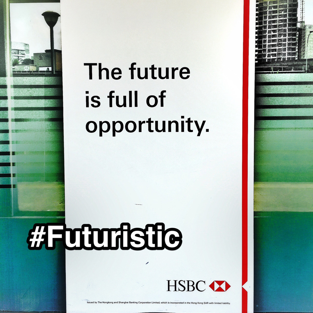 "#StrengthsFinder #Futuristic #strength welcomes the #future. People talented in Futuristic can almost touch and feel the many ""alternate universes"" (like the TV show Sliders) of possibility that cumulate back to the present time & decision. To them, the future is truly #FullOfOpportunity. Saw this poster while walking past a bank in #singapore #StrengthsSchool #strengthsquest"