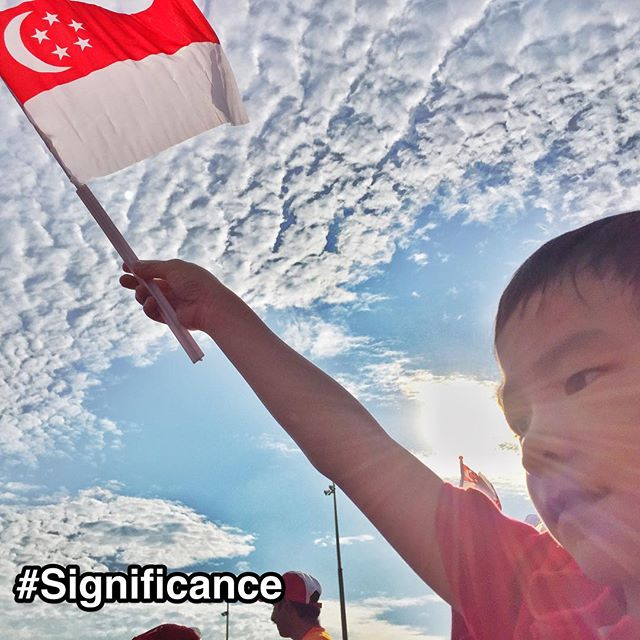 "Singapore flag representing StrengthsFinder Significance. My son Caden waving the Singapore flag high and proud during the National Day Parade rehearsal on Sat.  Significance is about being great and doing great feats of excellence or achievement. Things that people will recognize. And Singapore as a small country does that resoundingly.  Singapore is seen by many as a modern day ""economic miracle"". A small country just on the southern tip of Malaysia was able to make her mark on the world stage. Some of the significant achievements was to be the first or best in a myriad of areas: • Singapore Airport (voted top airport worldwide) • Singapore Airlines (world's most awarded airline) • 1st ever F1 night race • Largest manufacturer of jack-up oil rigs • Lowest drug abuse rate in the world • One of the lowest crime rate worldwide • One of the easiest place to do business  Singapore is best described in the definition of StrengthsFinder Significance: ""You want to stand out. You want to be known""  #StrengthsFinder #Singapore #StrengthsQuest #StrengthsSchool #StrengthsFinderSG #SG50 #NDP2015 #Asia #Significance #HumanResource #Gallup #SelfImprovement #SelfDevelopment #TrainingAndDevelopment #ProfessionalDevelopment  Jason Ho StrengthsFinder Coach  Strengths School™ Singapore  http://ift.tt/1ITy9Lh"