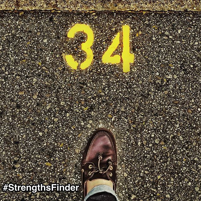 34 StrengthsFinder talents: When it comes to success and doing your best, what are some of the strategies we can apply to give us a better chance? For those who have taken the StrengthsFinder assessment, we now have 34 strategies to reach success. By understanding these 34 strengths, you can start to leverage your own potential as well as the potential of your team members, partners, friends and family. Start putting your best foot forward with these 34 strengths. (I took this in the carpark on my way to lunch today) #StrengthsFinder #StrengthsQuest #StrengthsSchool #StrengthsPhilosophy #SelfImprovement #34Strengths #BestFootFoward #TheBestIsYetToBe