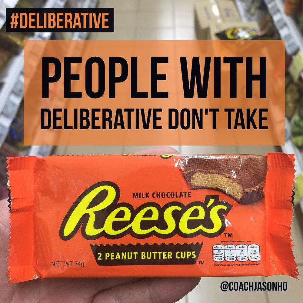 Singapore StrengthsFinder Deliberative Fun Quote Reese's