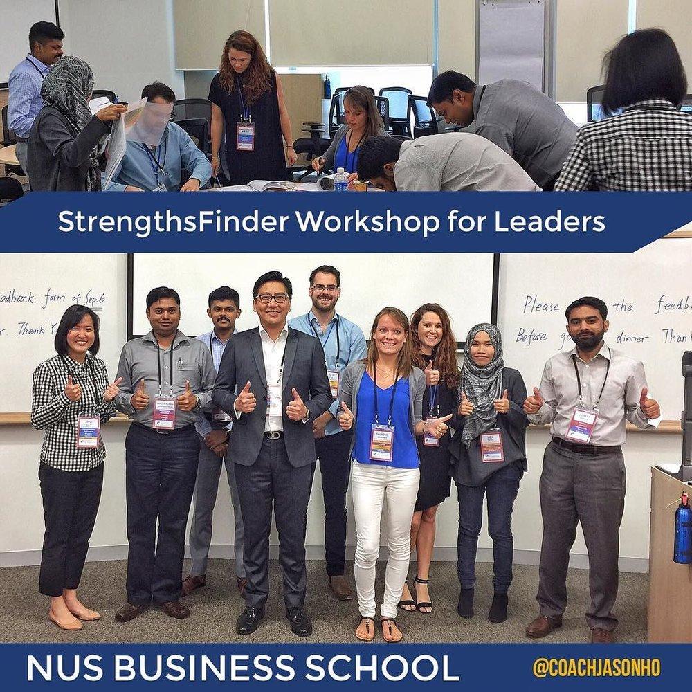 Singapore's NUS Business School's StrengthsFinder Leadership Workshop