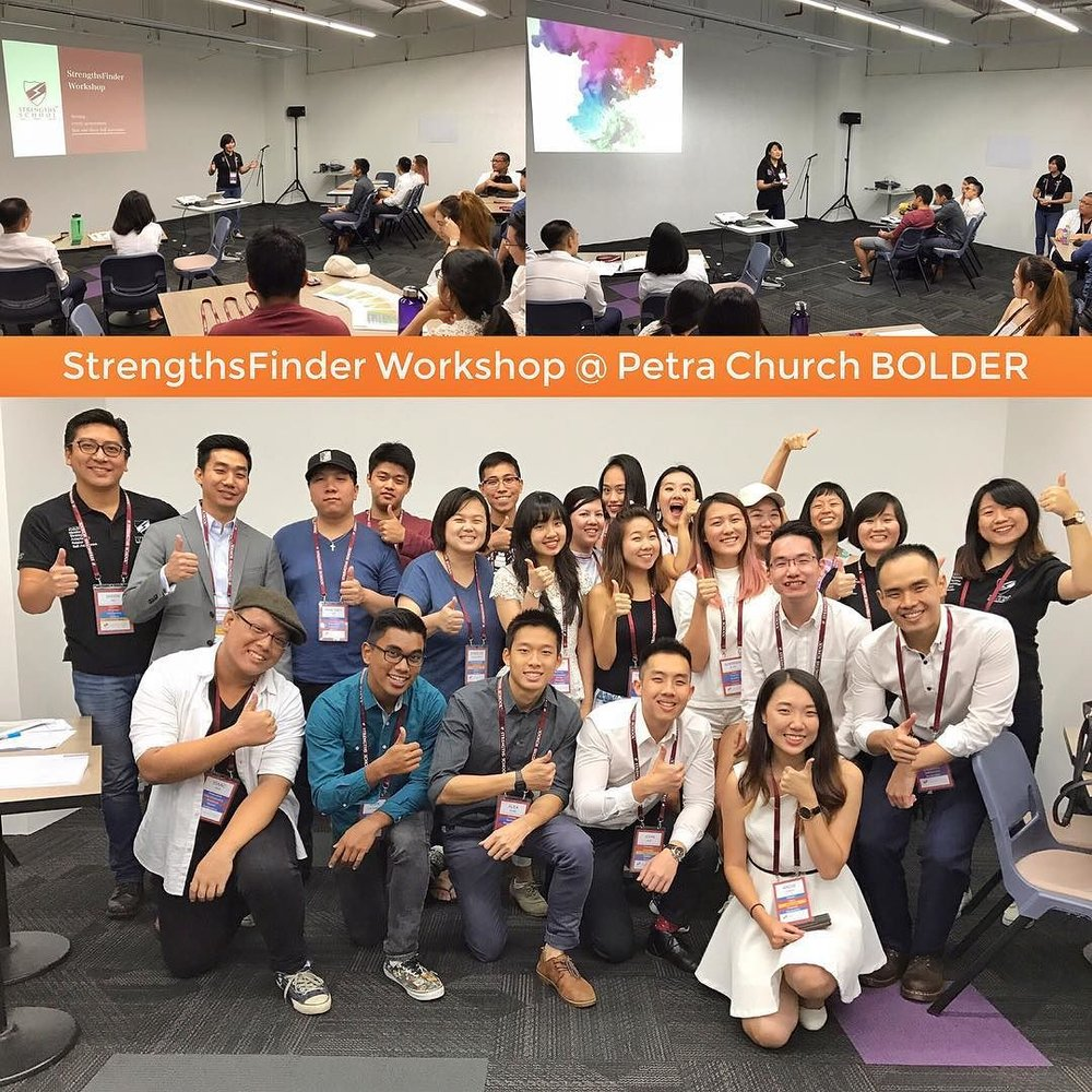 Singapore StrengthsFinder workshop at PETRA church - BOLDER
