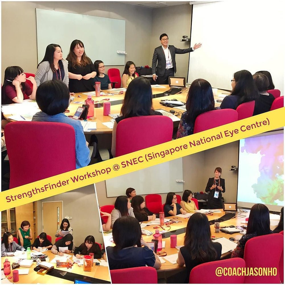 StrengthsFinder Workshop for Singapore National Eye Centre SNEC