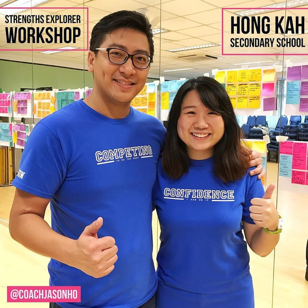 StrengthsExplorer instead of StrengthsFinder Workshop at Singapore's Hong Kah Sec over at Jurong West