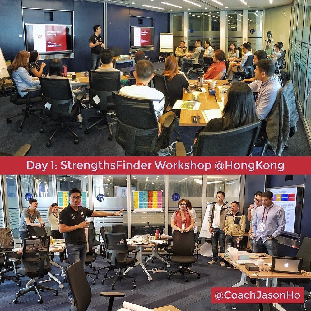 StrengthsFinder Workshop in HongKong with a great bunch of participants that are enthusiastic