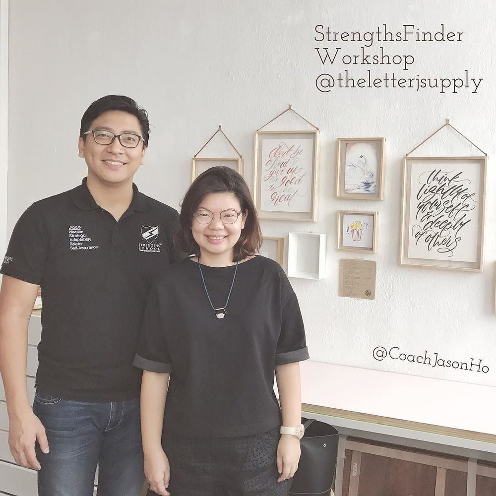 Singapore #StrengthsFinder #Workshop over at #theletterjsupply