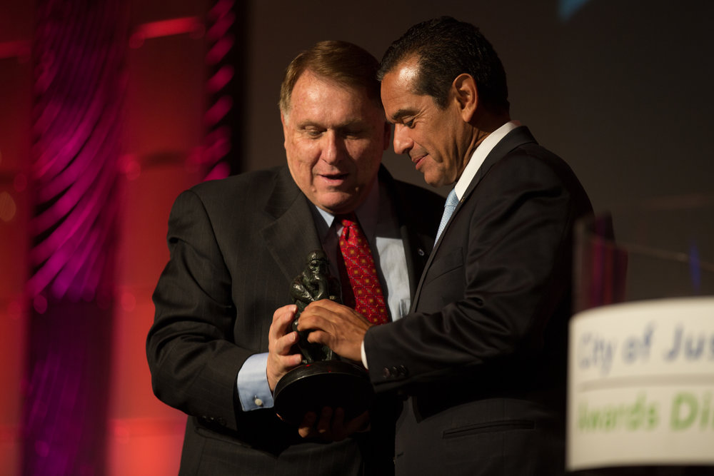 Jimmy Hoffa Jr and Mayor Villaraigosa