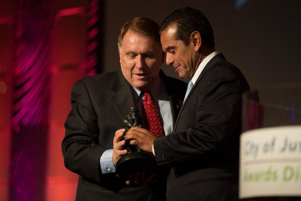 Jimmy Hoffa Jr and Mayor Villaraigosa