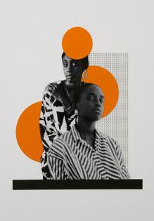 2014 - 5,100 % Dakar, Collage,30 x 40 cm