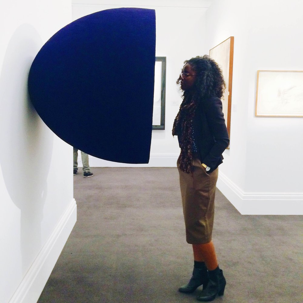 With Anish Kapoor's 'Void' at Sotheby's Auction.