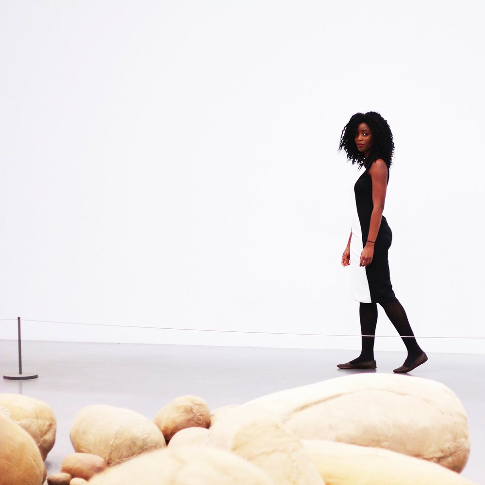 With Magdalena Abakanowicz's 'Embryology' at Tate Modern