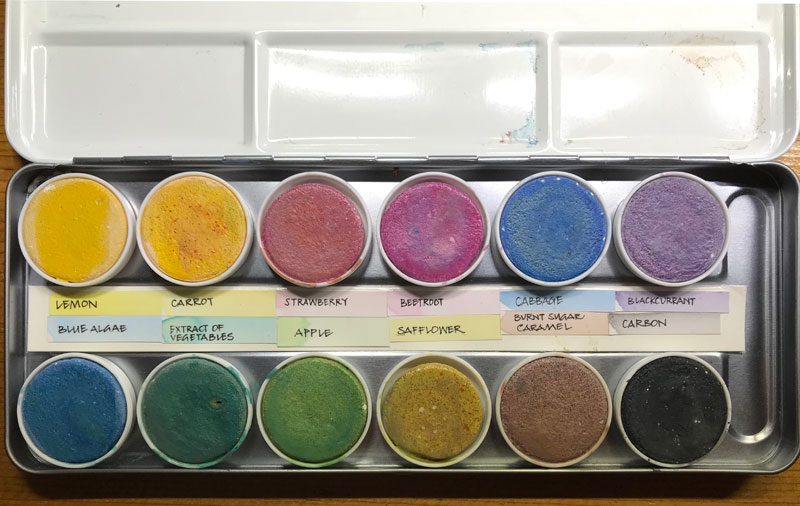 Natural dye paints