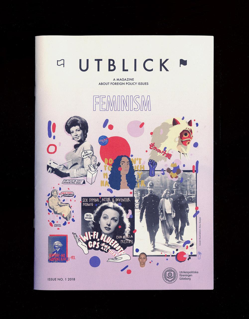 © Ibou Gueye, 'Feminism', cover illustration for UTBLICK, Sweden, 2018