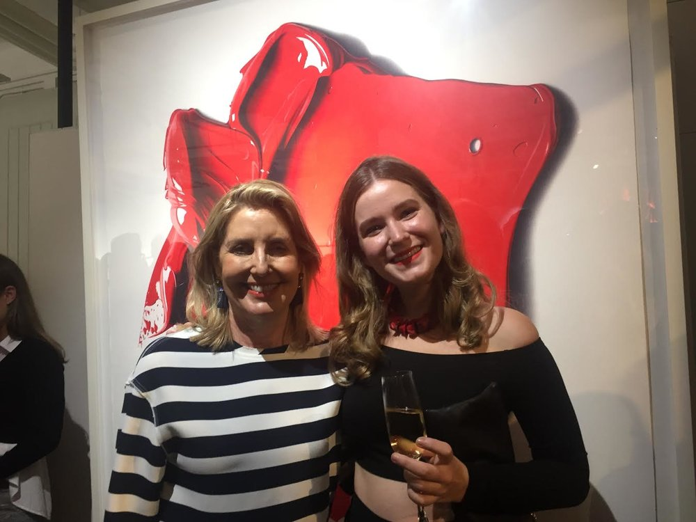 Sandra and Chloe at Complimentary Colours exhibition