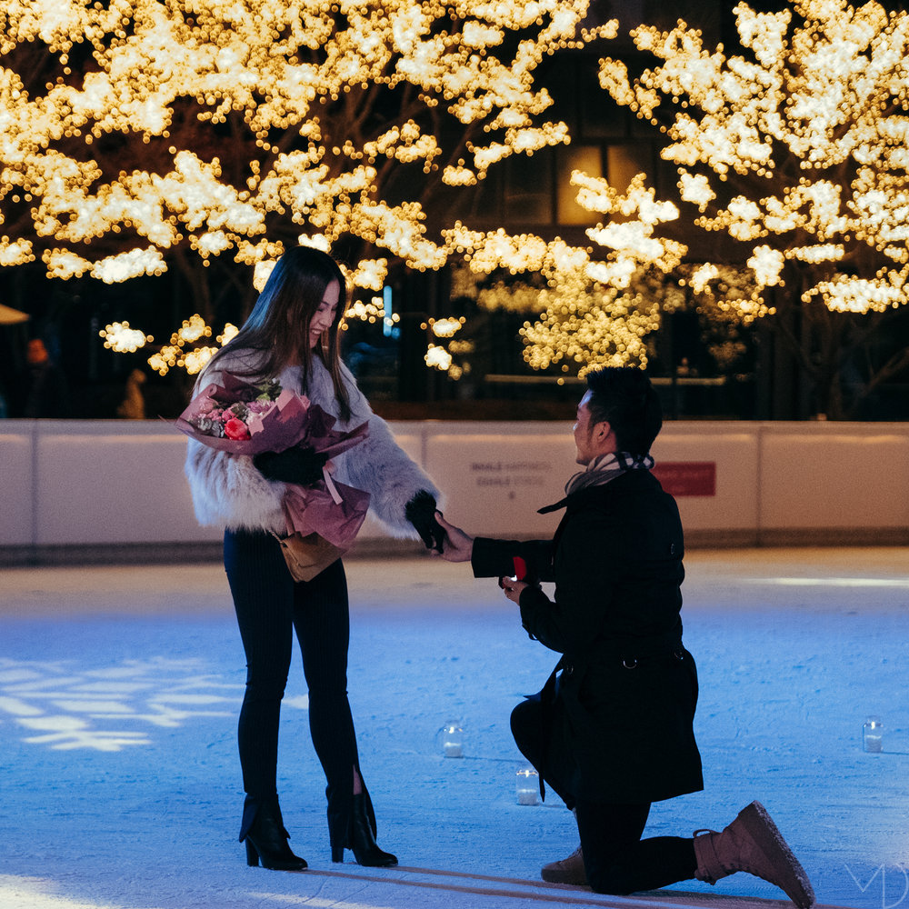 A surprise proposal at the Grand Hyatt hotel in Seoul.