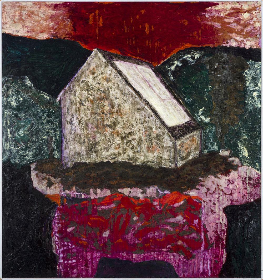 Rolf Hanson  Runt om hus VII  1996 Oil on panel 130 x 120 cm