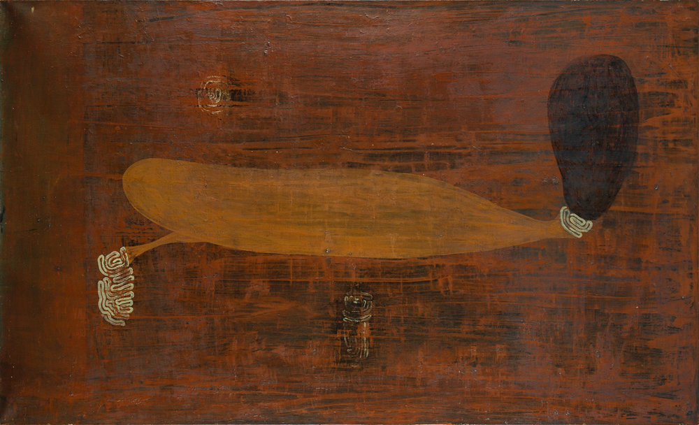 Olav Cristopher Jenssen  Utan titel  1989 Oil on panel 120 x 190 cm