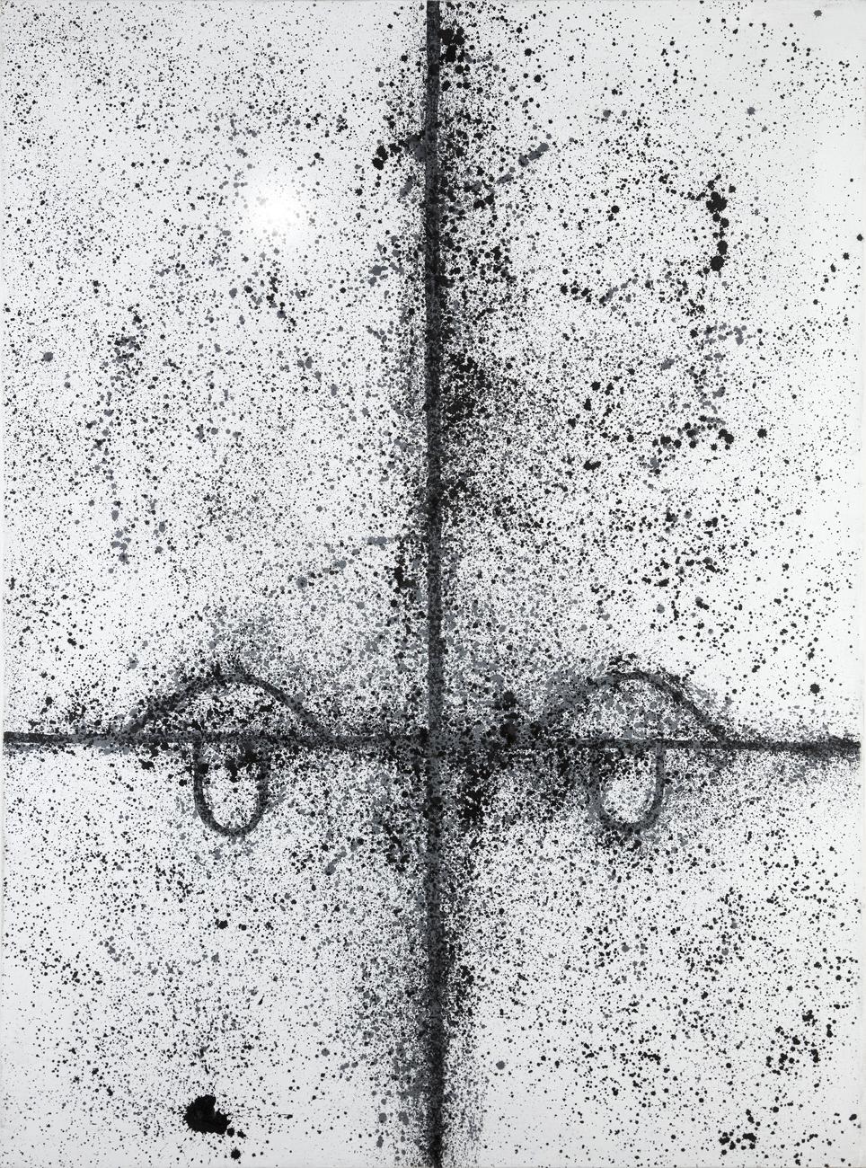 Eva Löfdal  Utan titel  1985 Acrylic on canvas 184 x 138 cm