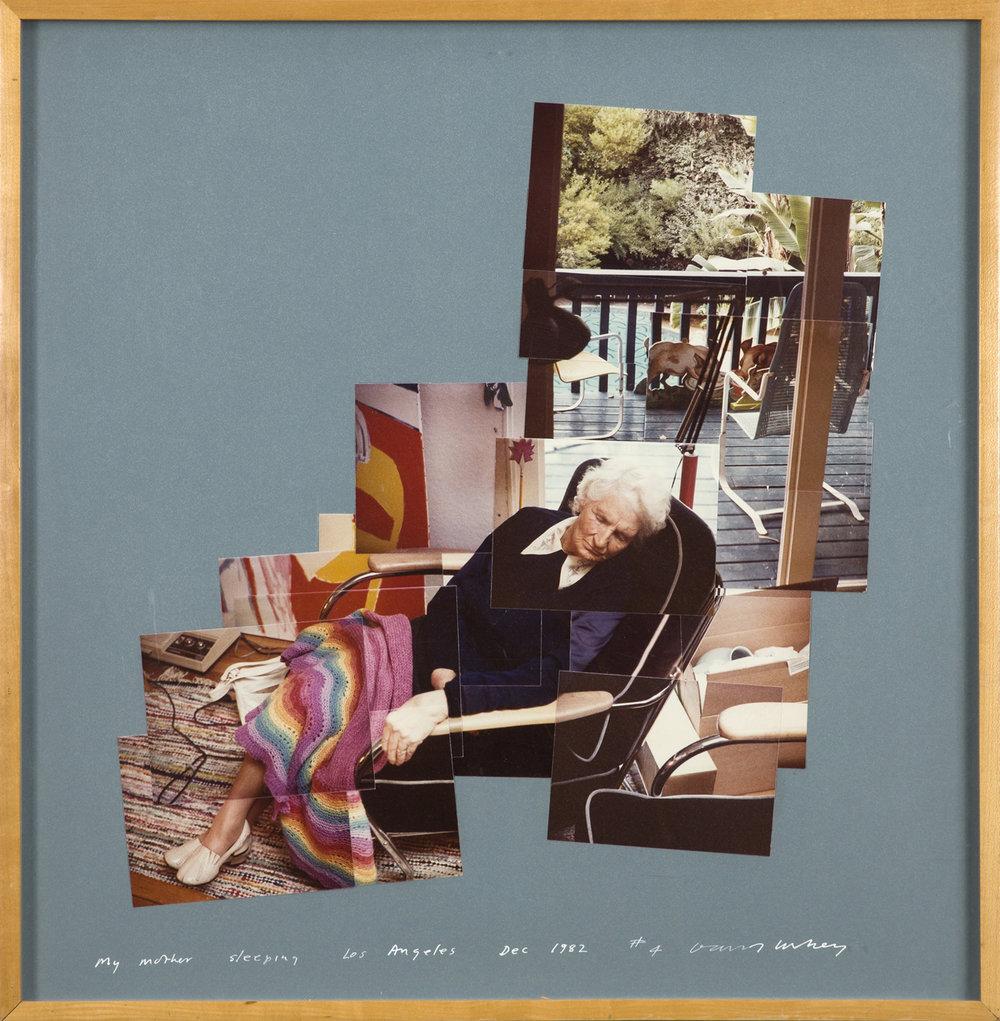 David Hockney  My mother sleeping, Los Angeles  1982 Photo Collage, numbered # 4 55 x 55 cm