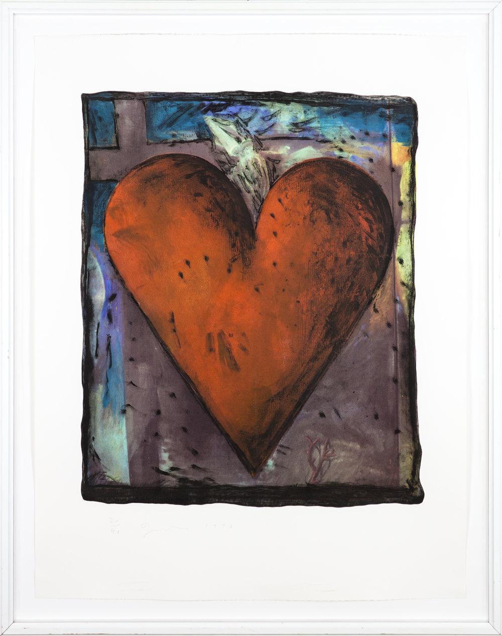 Jim Dine Ur:  The Hand Coloured Viennese Hearts  1990 Hand-colored etching, screenprint, (Carpenter 34), 20/40 120 x 92 cm