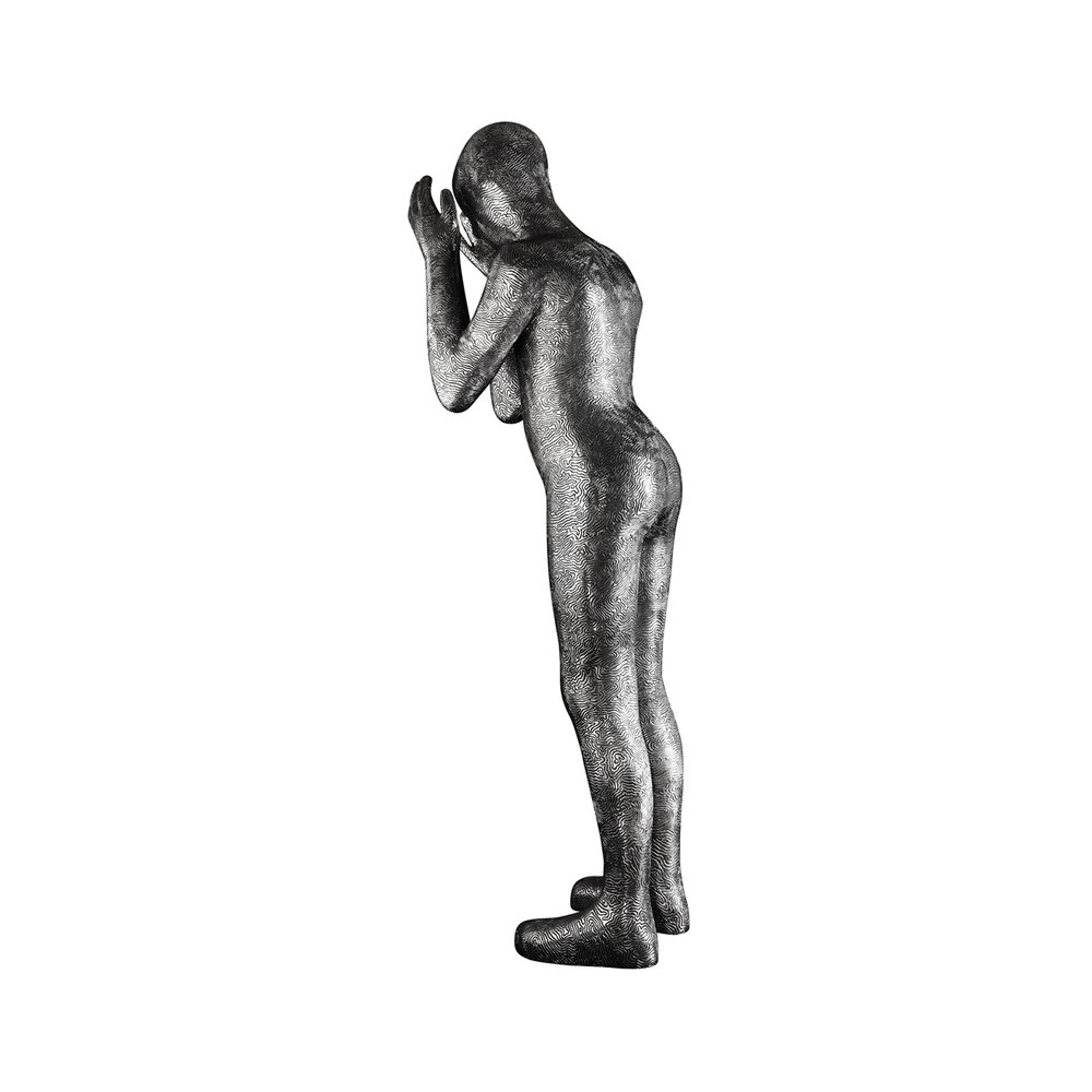 Maria Miesenberger  Hide and Seek (Standing)  2004 Sculpture in polished aluminum, 2/5 158 x 27 x 50 cm