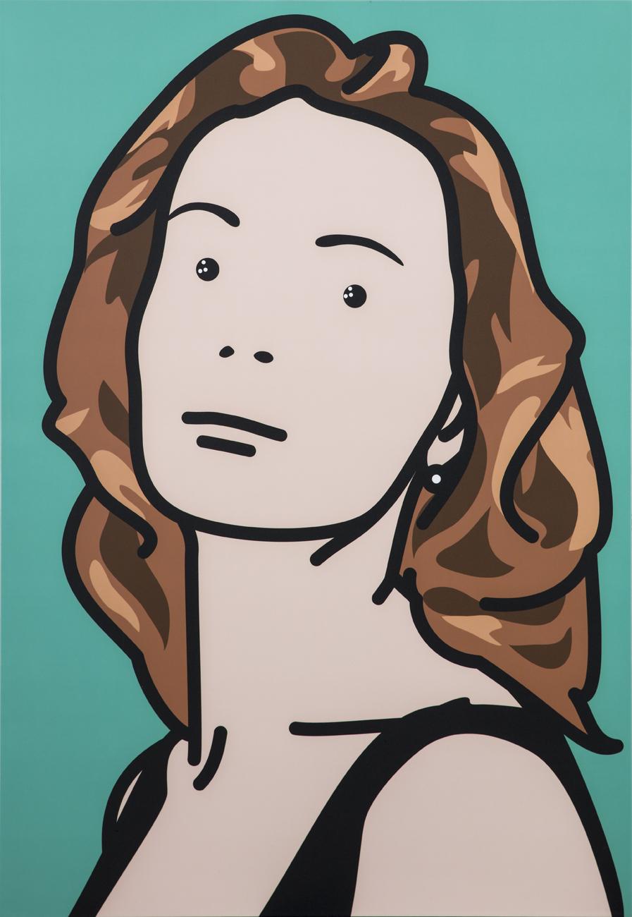 Julian Opie  Fiona Artist 3  2001 C-type print mounted on panel 88,7 x 72,7 cm