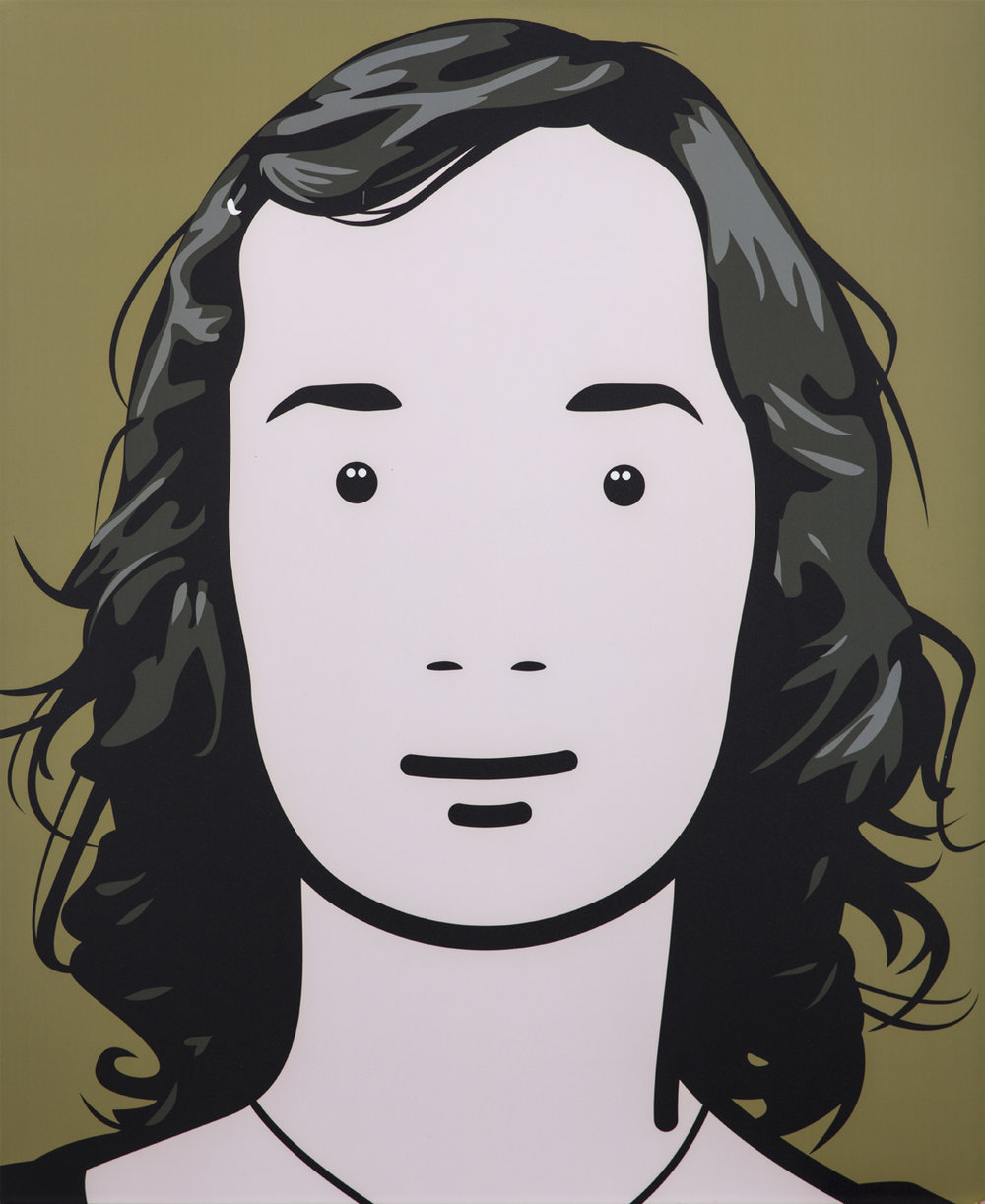 Julian Opie  Moniuque  2000 C-type print mounted on panel 88,7 x 60 cm