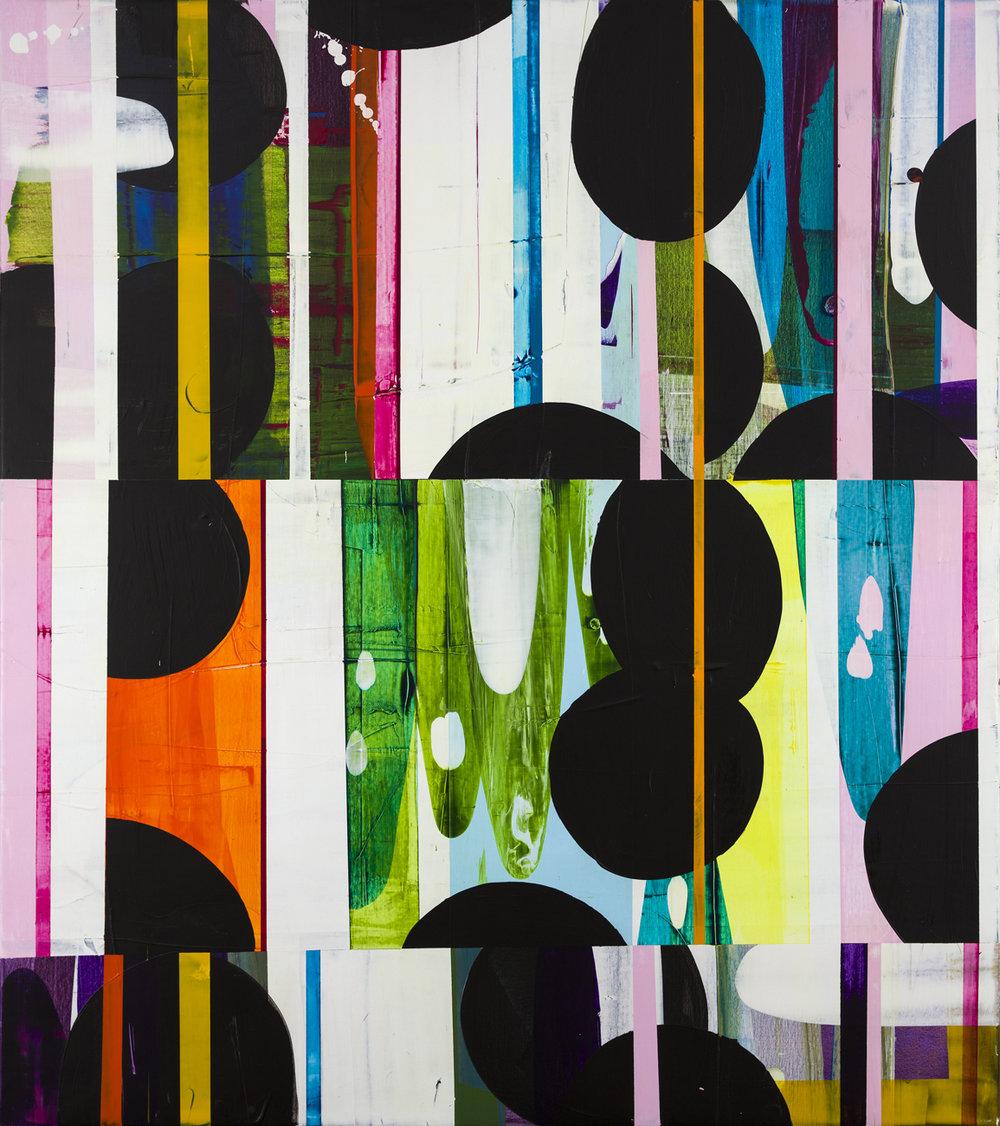 Astrid Sylwan  Shapend By Twin Light  2008 Oil on canvas 180 x 155 cm