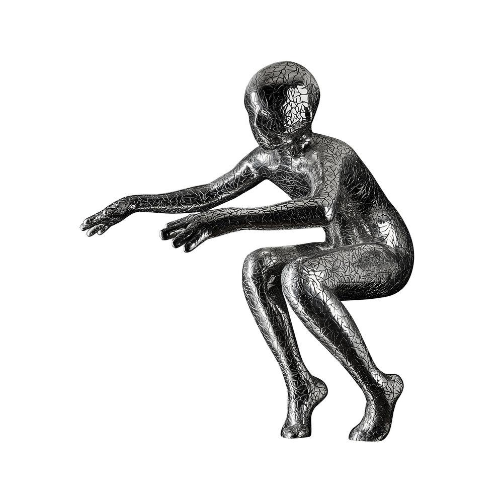 Maria Miesenberger  Stilla rörelse (Standing motion)  2012 Stainless steel 102 x 96 x 68 cm