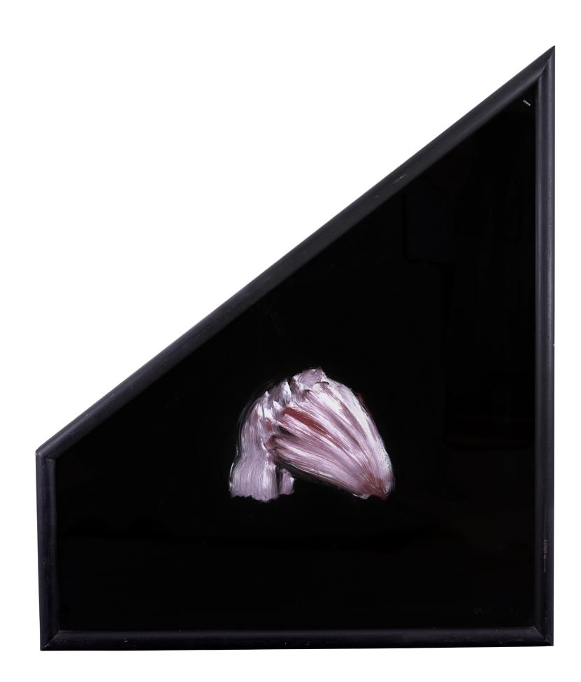 Ulrik Samuelson  Utan titel  1973 Oil and acrylic on glass 113 x 87 cm