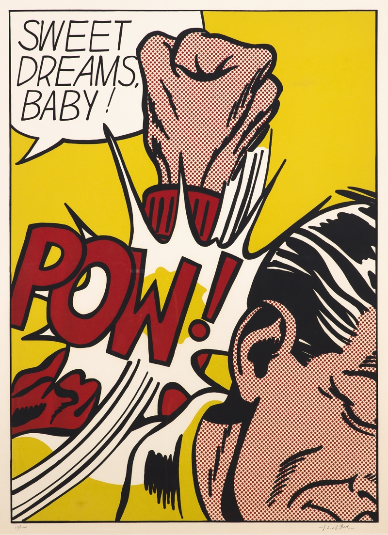 Roy Lichtenstein  Sweet Dreams, Baby, ur II Pop Artists  1965  Serigraphy 90,5 x 64,9 cm, sheet size 95,6 x 70,1 cm