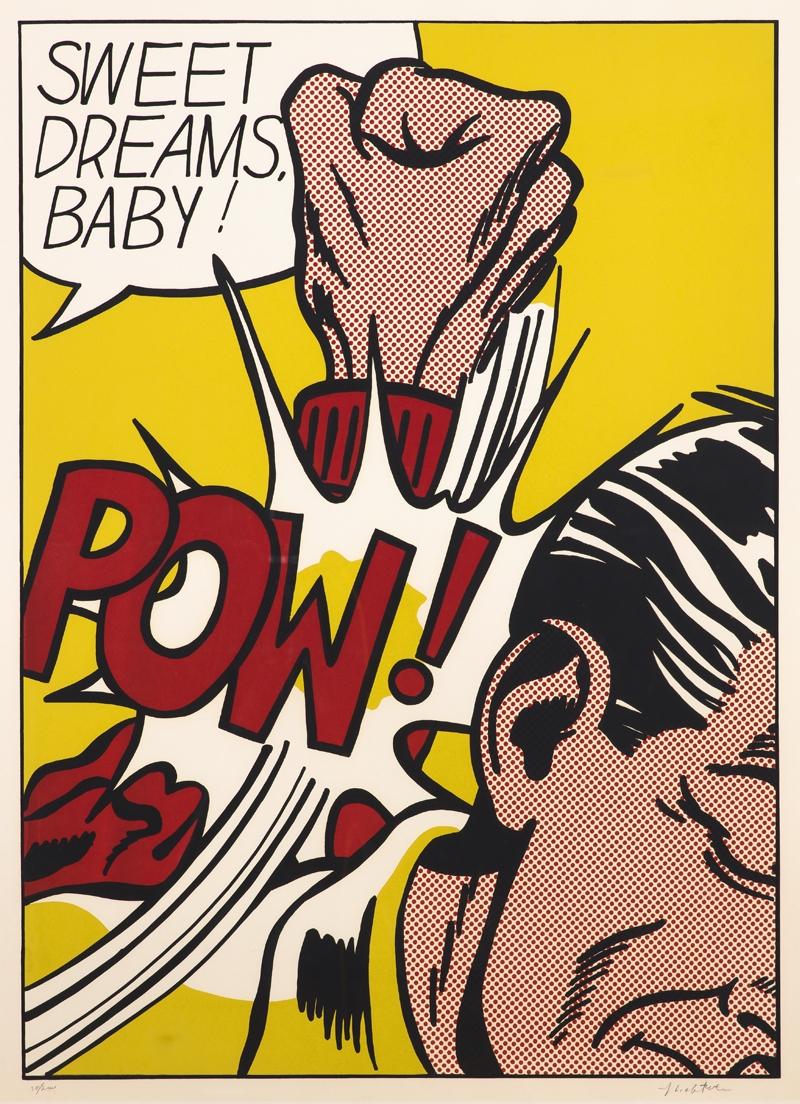 Roy Lichtenstein  Sweet Dreams, Baby, ur II Pop Artists  1965  Serigraphy 90,5 x 64,9 cm, sheet size 95,6 x 70,1 cm