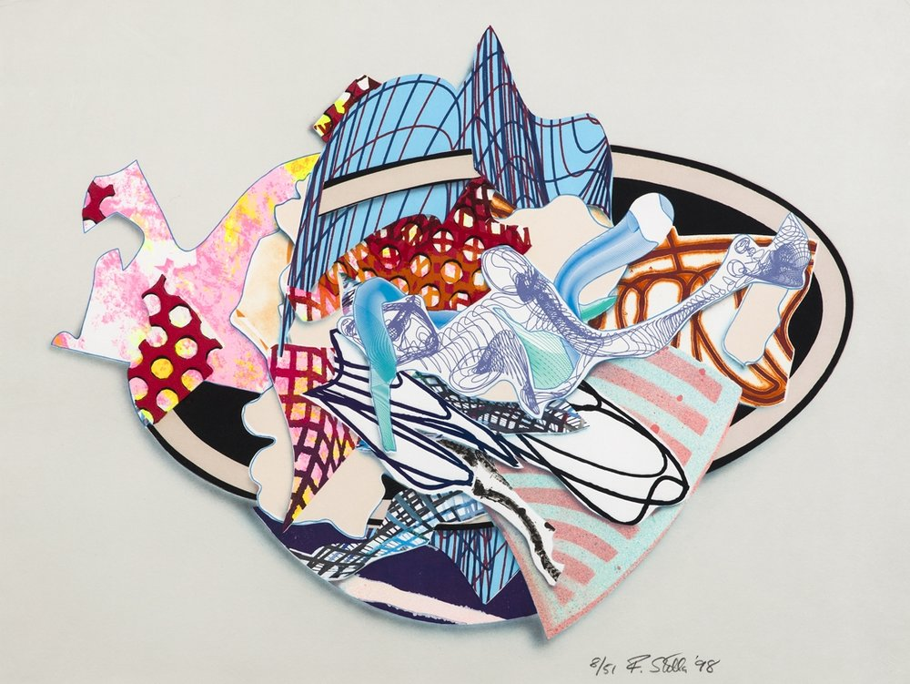 Frank Stella  Aiolio (From Imaginary Places III)  1998 Color lithograph, serigraph, etching, aquatint and embossing, signed and numbered 8/51 52 x 70 cm
